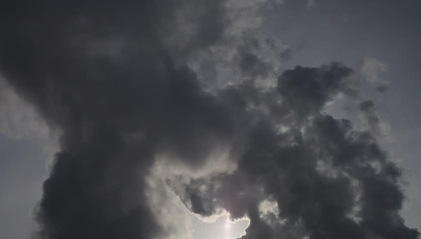 Environmental pollution. Smoke from trumpet. | Shutterstock HD Video #23888659
