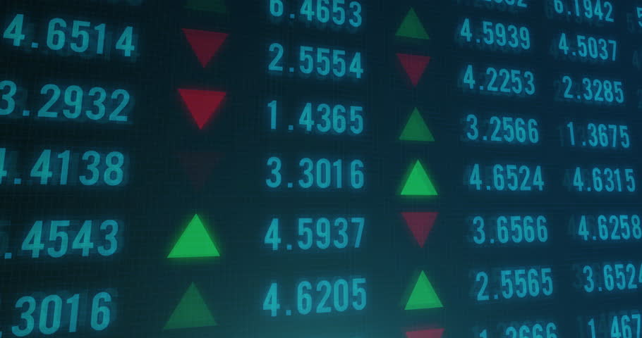 Stock Market Financial Analysis Indicator Background Stock Footage