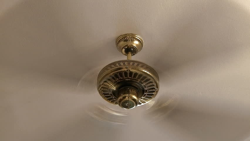 Wonderful Ceiling Fan Running Fast Stock Footage 239542 Shutterstock