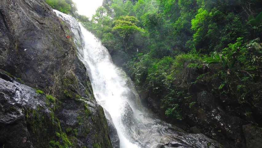 Pun-ya-ban waterfall in Ranong, Thailand.