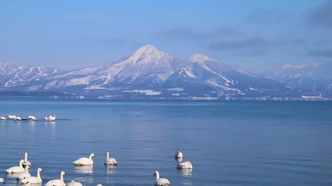 Mt.Bandai and Inawashiro Lake, Fukushima, Japan