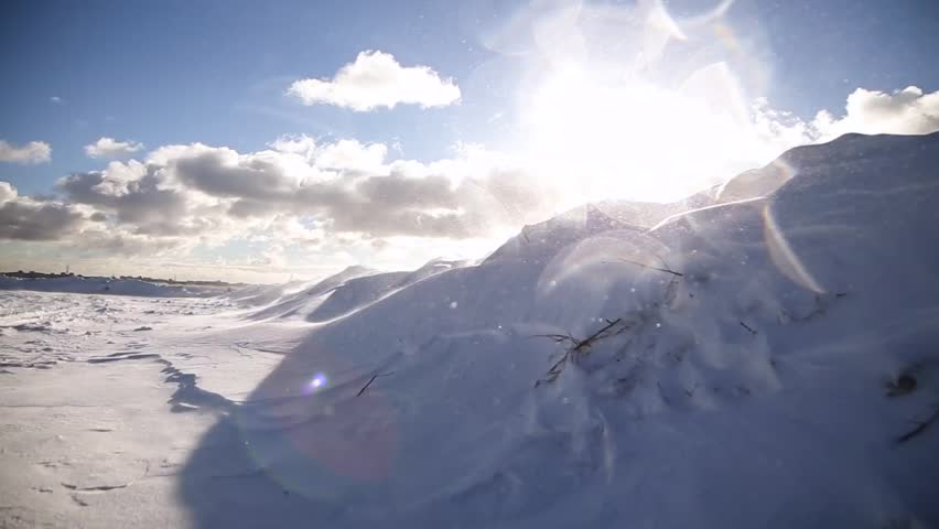 Wind over snow field | Shutterstock HD Video #23961772