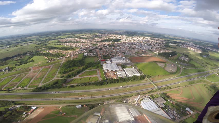 Skydiver landing the parachute | Shutterstock HD Video #23976307