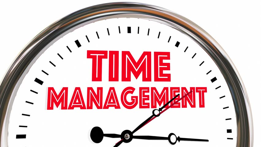 Time Management Efficient Clock Managing Stock Footage ...