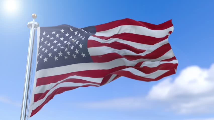 American Flag Slow Waving  Close Stock Footage Video (100% Royalty-free)  24009532 | Shutterstock