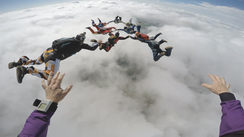 Skydive point of view | Shutterstock HD Video #24059062