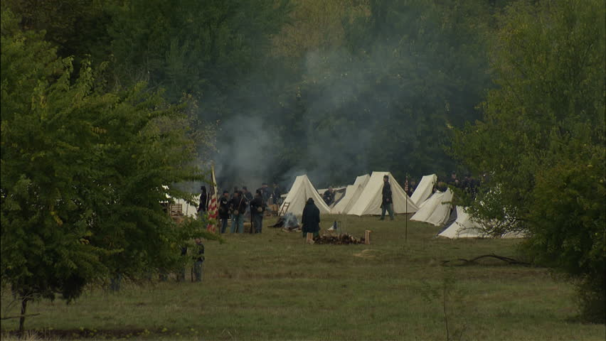 Federal camp Correct to the period of 1864 situated in the fall in the eastern theater/Shenandoah valley region.