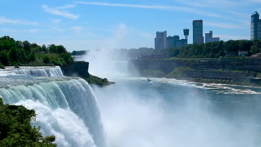 Niagara Falls Waterfall Between Border Stock Footage Video 100 Royalty Free 24147052 Shutterstock