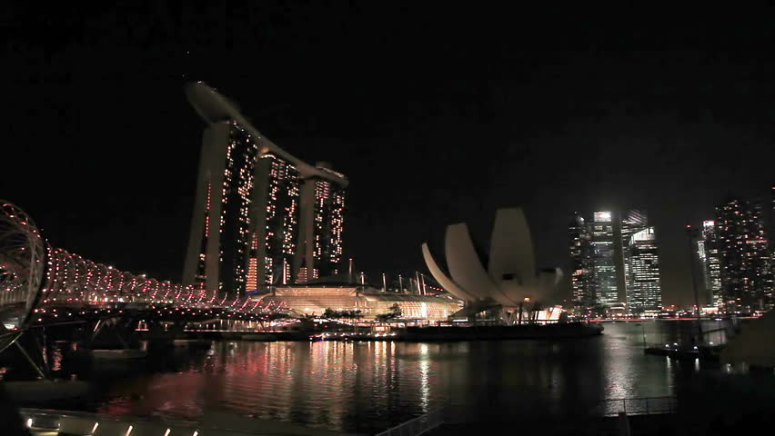 Singapore Singapore January 16 2013 Singapore City At Sunset Skyline At