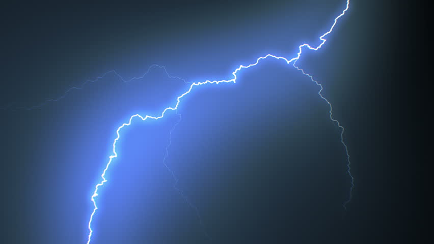 Set of Beautiful Lightning Strikes on Black Background. Electrical Storm. 17 Videos of Blue Realistic Thunderbolts in Loop Animation in 4k 3840x2160.  #24196162