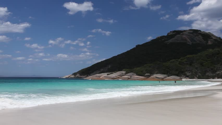 Little Beach in Two People's Bay National Park is a stunning little beach near the south west town of Albany, Western Australia, Australia. Great for a swim on a warm summer day as seen here.