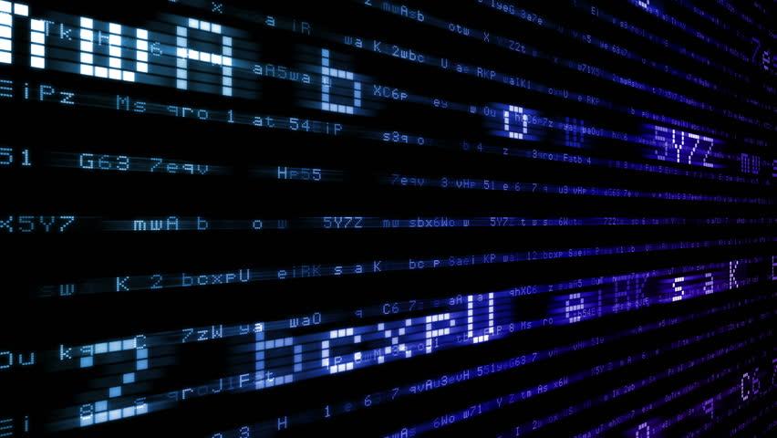 Digital world data space number text.   Shutterstock HD Video #24202522