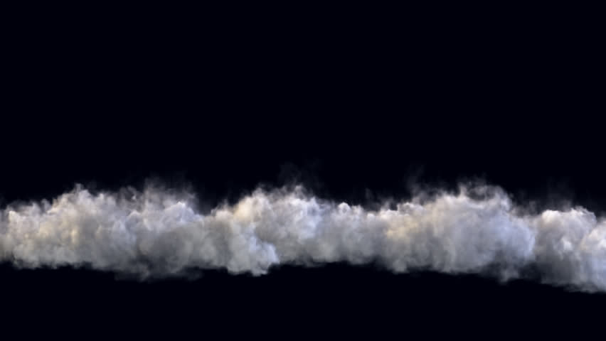 Smoke wall wave coming towards camera, with alpha channel
