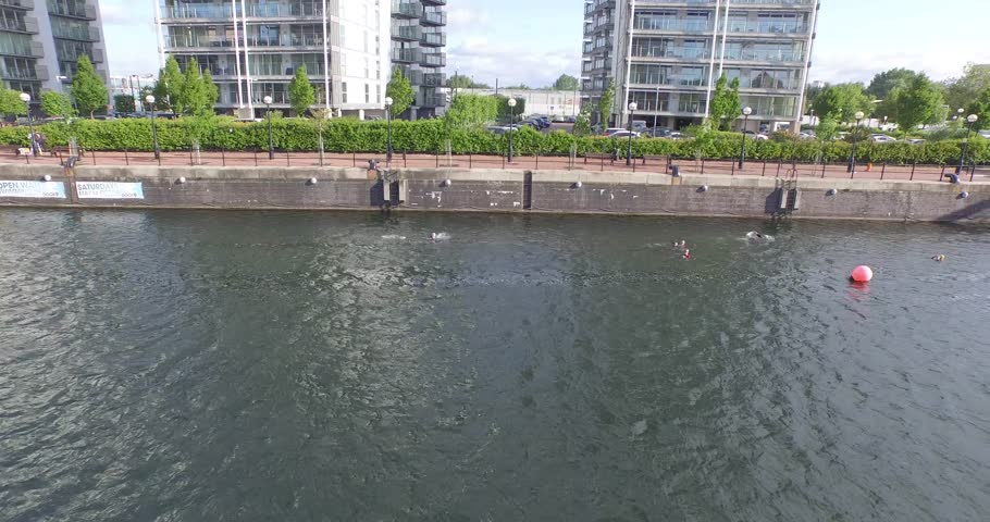 4k - Drone / Aerial - uSwim - Media City - Salford Quays