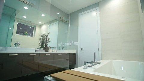 Bathroom range master bedroom. Modern bathroom in a new house