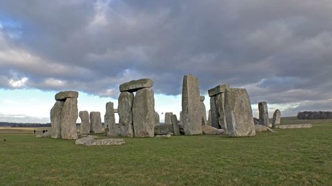 Clouds moving over Stonehenge, Wiltshire England