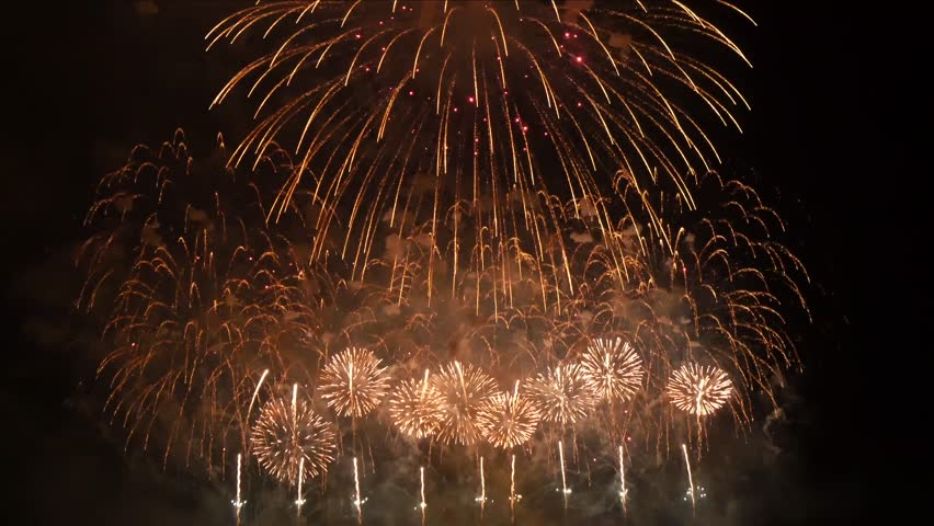 Colorful fireworks at holiday night UHD, 4K - Beautiful colorful firework. | Shutterstock HD Video #24372098