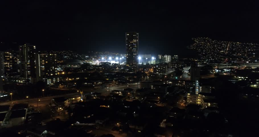 Aerial video of sports stadiums 4k 24p