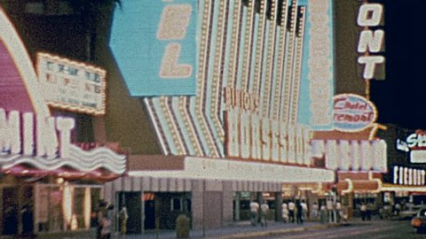 LAS VEGAS - 1965: people walk in the strip in 1965 in Las Vegas
