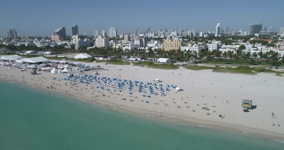 Hyperlapse aerial video South Beach Wine and Food Festival | Shutterstock HD Video #24399692