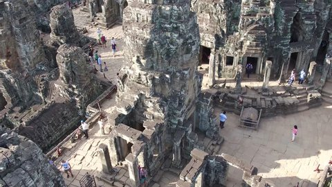 fly over bayon temple 8