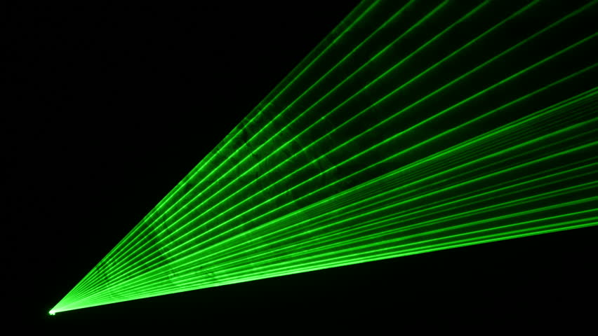High quality video of green laser show in 4K