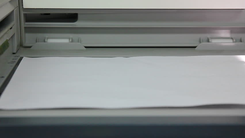 copy of document on photocopier