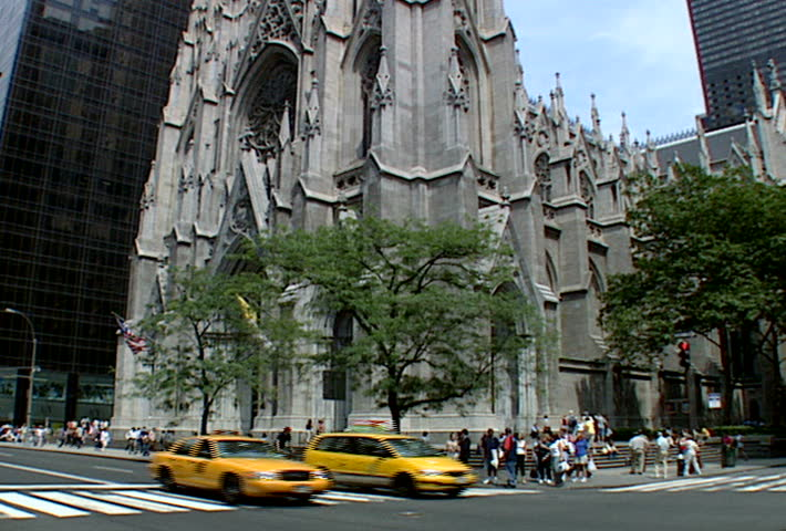 NEW YORK - Circa 2002: Facade of The Cathedral of St. Patrick in 2002.