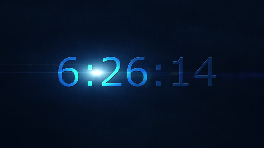 Countdown clock counting down from ten seconds to zero. Animated flat design. Concept of deadline, time and pressure.