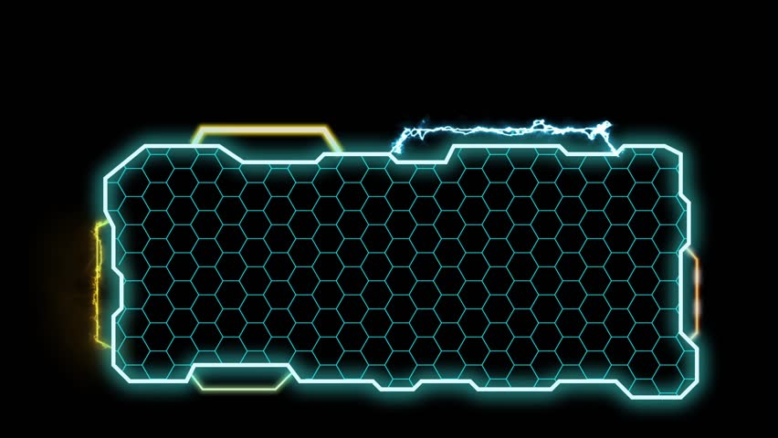 Digital Hud. Blue. Futuristic computer interface perfect to compose using modes.