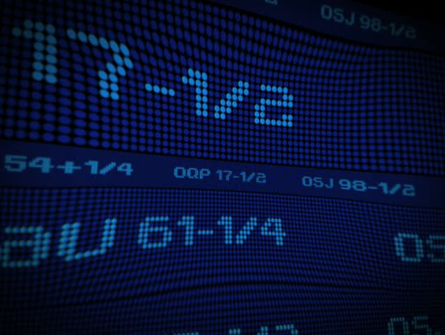 Looping stock market ticker in a warp. Visit my gallery for many more options!   Shutterstock HD Video #24544