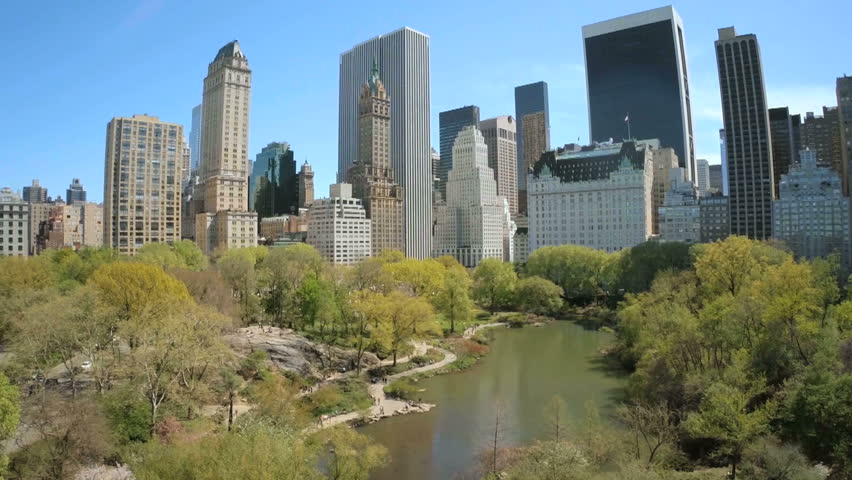 Aerial view of Manhattan with Central Park in New York | Shutterstock HD Video #24600182