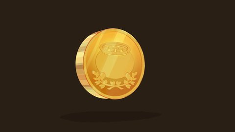 Saint Patrick 's gold coin looping animation Luma matte