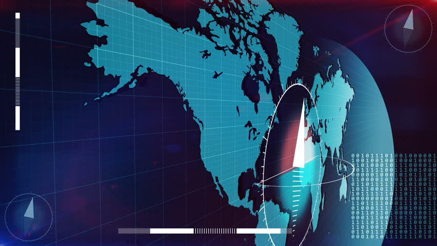 Abstract World Map with marks on Major cities. Global Business Concept. | Shutterstock HD Video #24645992
