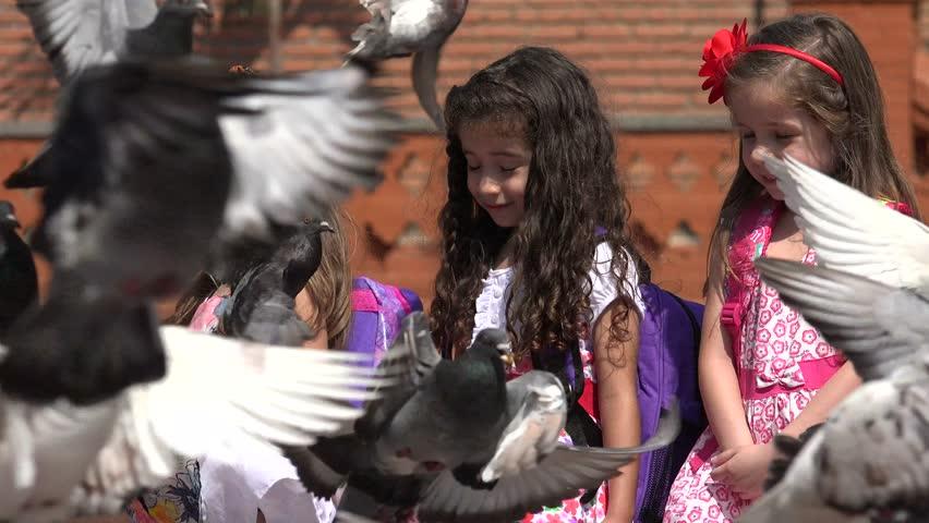 School Children Girls Having Fun | Shutterstock HD Video #24702902