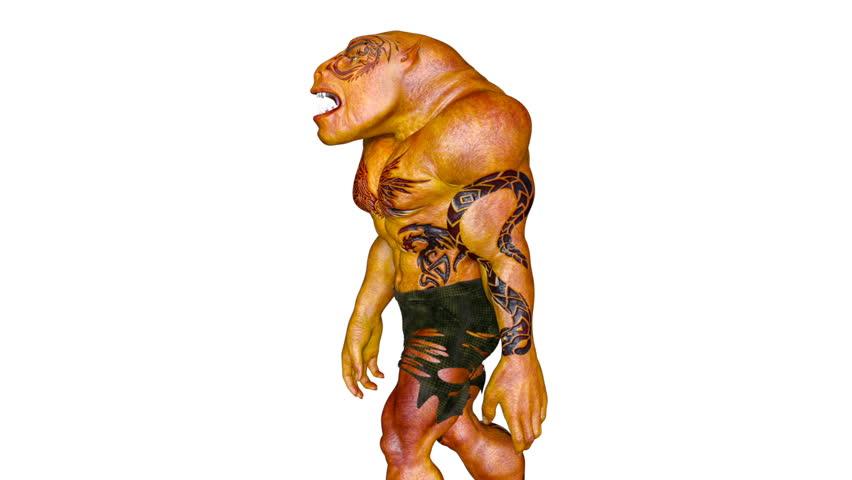 3D CG rendering of a walking monster | Shutterstock HD Video #24785642