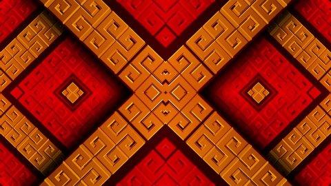 Golden korean pattern vj loops