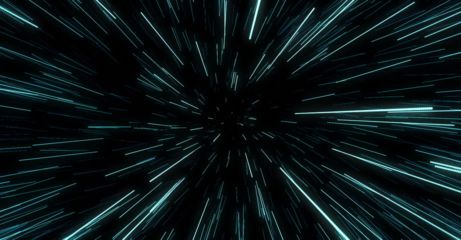 Abstract of warp or hyperspace motion in blue star trail. Exploding and expanding movement | Shutterstock HD Video #24887072