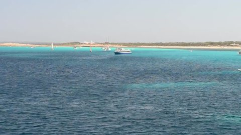 Coast of Formentera, Spain.
