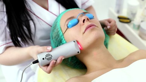 The procedure for treating cold laser.
