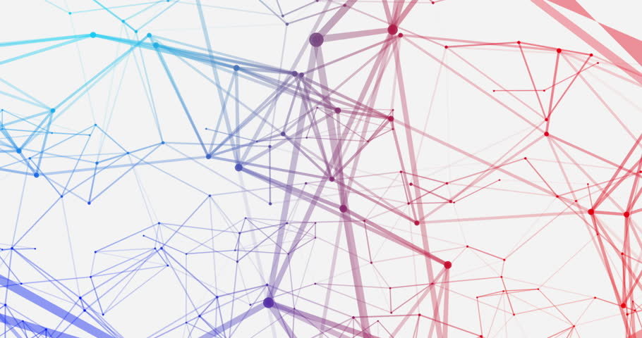 colorful abstract connecting dots and stock footage video