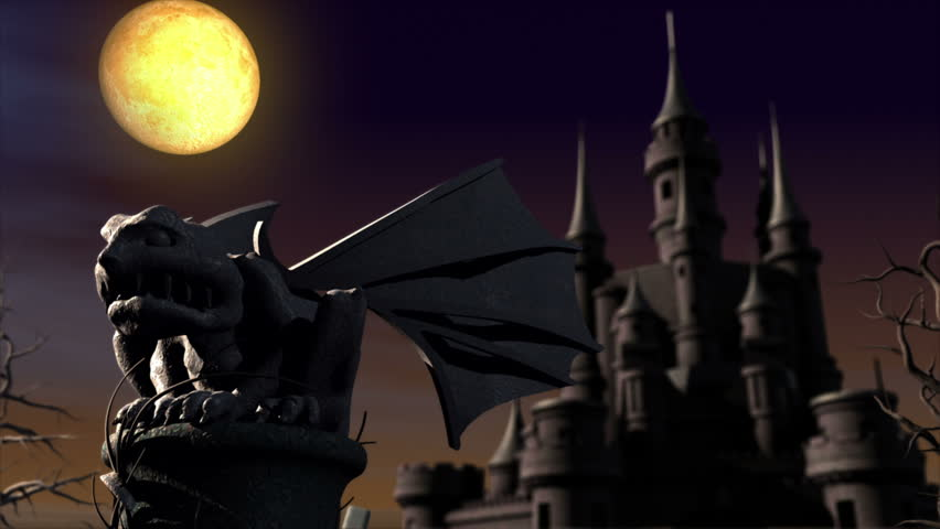 Halloween night in the cemetery. 3d animation | Shutterstock HD Video #2506862