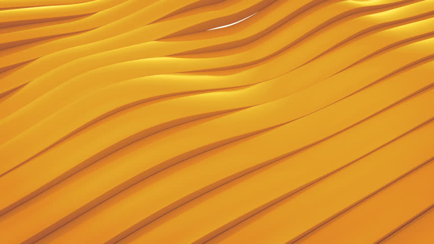 3D animation of yellow surface made of waving lines, loopable abstract motion background | Shutterstock HD Video #25078082