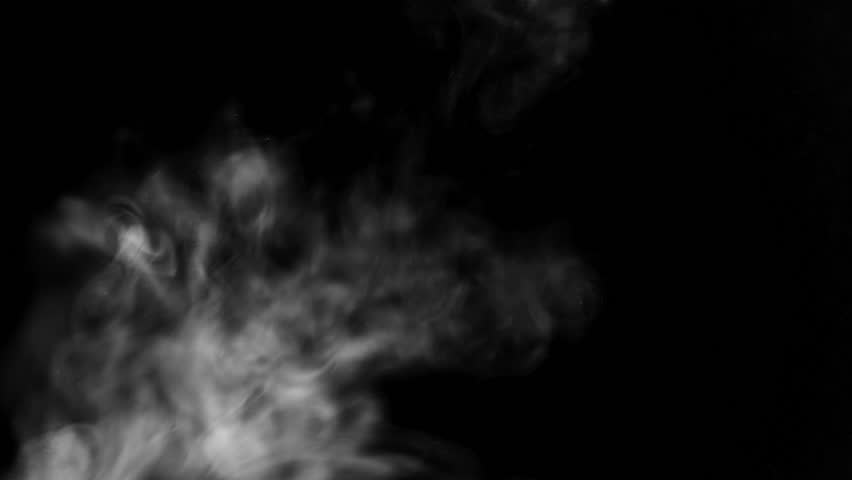 White ink blurs into the black liquid. background | Shutterstock HD Video #25097162