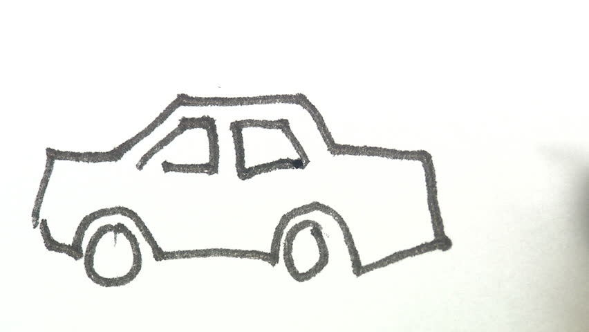 Drawing a car.