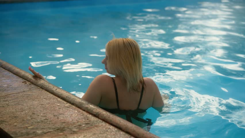 Busty Euro blonde Chloe Lacourt fucking outdoors in swimming pool  486686