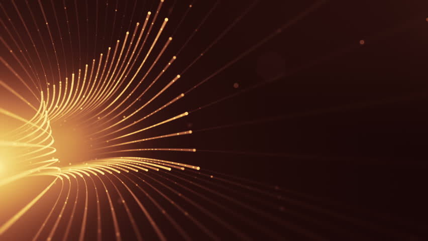 Abstract background with animation moving of lines for fiber optic network. Magic flickering dots or glowing flying lines. Animation of seamless loop. | Shutterstock HD Video #25151432