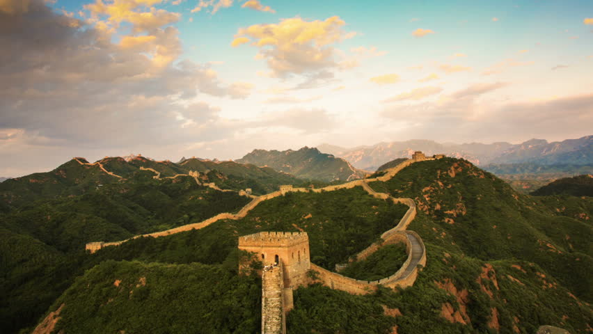 The Great Wall from day to night - Time lapse