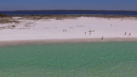 White Sandy Beach. Drone