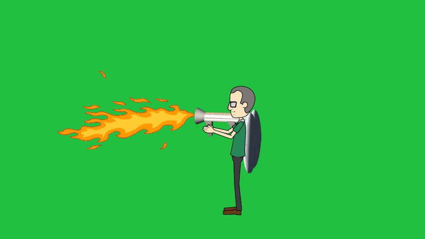 Header of flamethrower